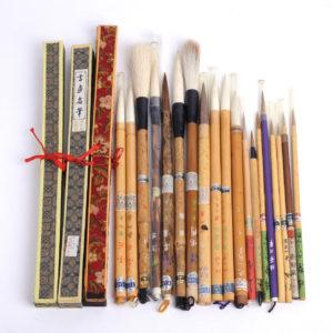 硯・墨・筆・文鎮など書道具類